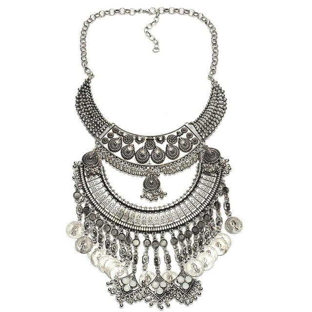 2103a25d5055 € 7.44  Collares vintage COLLAR COLGANTE Collier Femme cadena de oro borla  accesorios bisuteria mujer bijoux collane choker Ketting en Collares ...