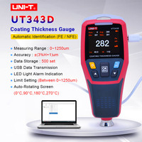Thickness Gauge UNI T UT343D Digital Coating Gauge Meter Cars Paint Thickness Tester FE/NFE measurement with USB Data Function