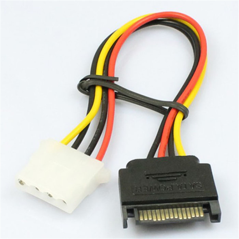 15 Pin SATA Male to 4 Pin Molex Female IDE HDD Power Hard Drive Cable Jun14 Professional Factory Price Drop Shipping