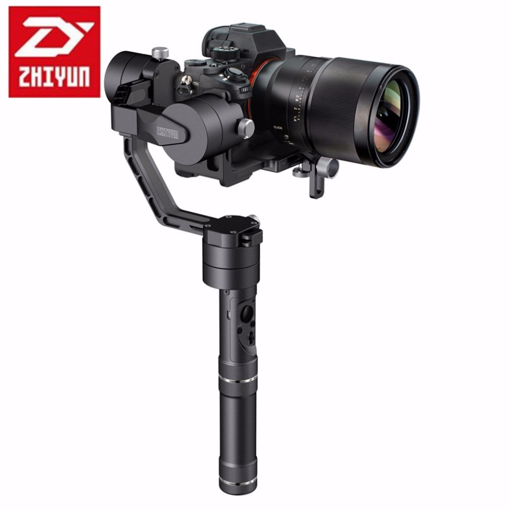 DHL Zhiyun Crane Professional 3 Axis Handheld Gimbal Camera Stabilizer for DSLR Canon SONY A7 Panasonic Cameras Load 1800G professional dv camera crane jib 3m 6m 19 ft square for video camera filming with 2 axis motorized head