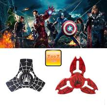 The Avengers Crabs Red and Black Spiderman Mantel Fidget Spinner Hand Spinner For Autism ADHD Stress Toys(China)