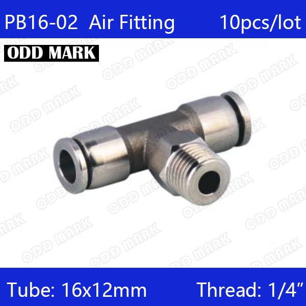 Free shipping 10pcs/lot 16mm to 1/4 PB16-02,304 Stainless Steel Tee Male Connector 10pcs lot irfp4468trpbf irfp4468pbf irfp4468 4468 to 247 free shipping