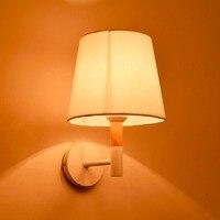 Ganeed один свет современный деревянный База настенные бра с подсветкой стены для Гостиная спальни коридор Главная Освещение украшения
