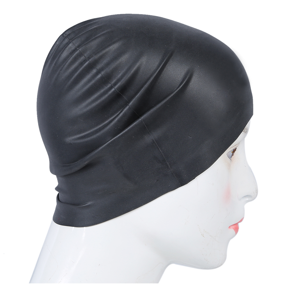 5887739cedf New Sale Black Soft Silicone Stretchable Swim Swimming Cap Hat for Adults-in  Swimming Caps from Sports   Entertainment on Aliexpress.com