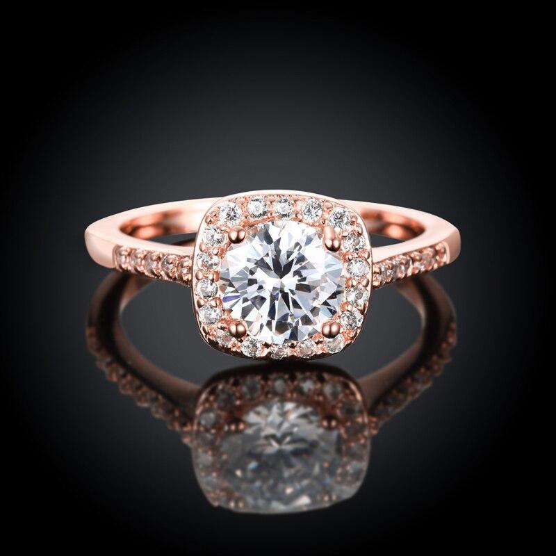 JEXXI Модные кольца для 2017, женская обувь свадебные Обручение ювелирных аксессуаров кубический циркон камень обещание палец кольцо Anillos Femme