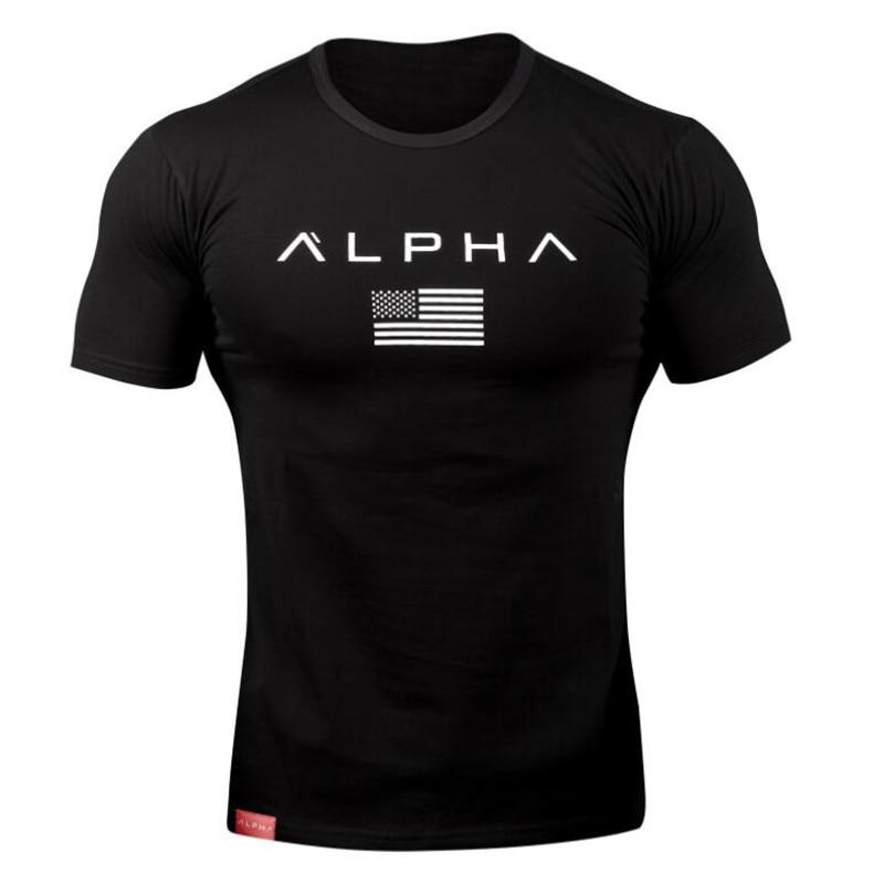 2018 nueva marca ropa Gyms algodón ajustado Camiseta Hombre Fitness camiseta Homme Gyms camiseta hombres Fitness Crossfit verano Camisetas Tops