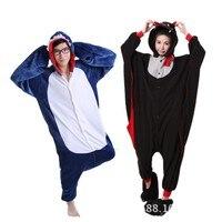 Аниме Pijama мультфильм унисекс для взрослых пижамы Косплэй костюм животных Onesie пижамы акулы и bat Животного Пижамы