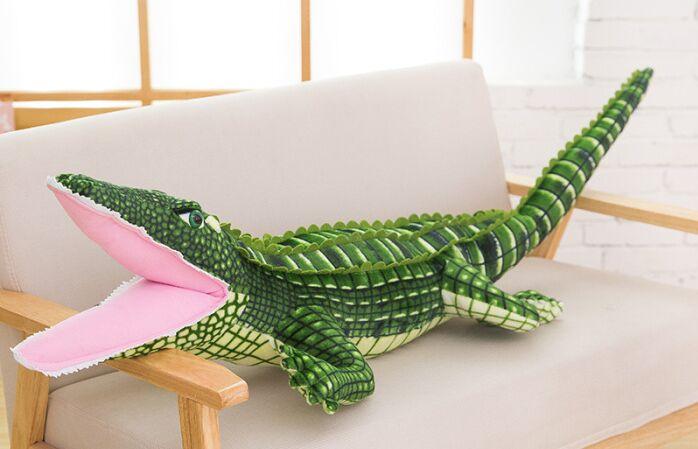 Simulation crocodile en peluche grand 150 cm poupée doux oreiller cadeau d'anniversaire b0812