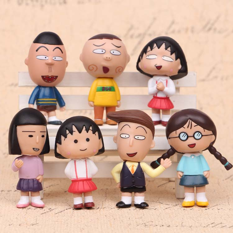 NEW hot 6cm 7pcs set Chi bi Maruko action figure toys collection Christmas