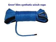 6mm*30m winch line for atv winch,synthetic winch rope for winch accessories,synthetic rope