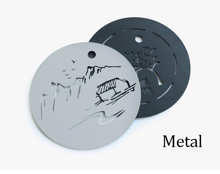 Metal Plate Ceramic Gong Fu Tea Tray 4