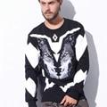 Homens hoodies geometria homens itália moda Marcelo Burlon 3d camisolas de algodão homens inverno casual o pescoço hoodies pullovers