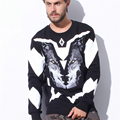 italy fashion Marcelo Burlon men hoodies geometry men 3d sweatshirts cotton men pullovers winter casual o neck hoodies