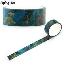 Flyingbee 15mmX5m Paper Washi Tape The Lion King Cartoon Adhesive DIY Kids Scrapbooking Sticker Label Masking X0346