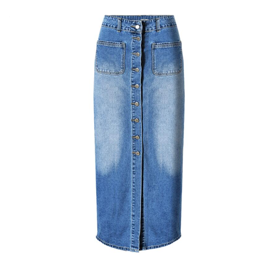 Popular Long Denim Skirts for Women-Buy Cheap Long Denim Skirts ...