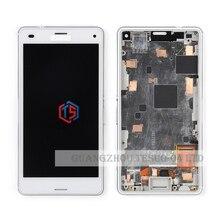 Z3 компактный ЖК-экран Для Sony Xperia Z3 compact Z3 Mini ЖК-Дисплей С Сенсорным Экраном Дигитайзер Ассамблеи с рамкой 20 шт. Бесплатные DHL(China (Mainland))