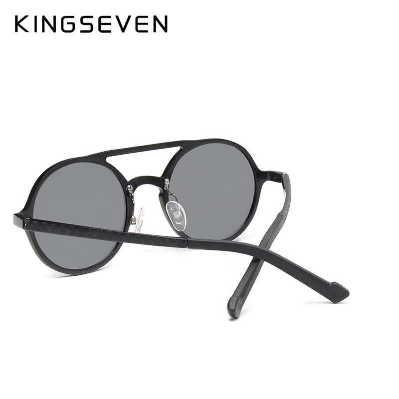 fc738cac81 Aliexpress.com: Comprar KINGSEVEN gafas de sol redondas de aluminio  polarizadas para hombre Punk Vintage gafas de sol accesorios para conducir  gafas de sol ...