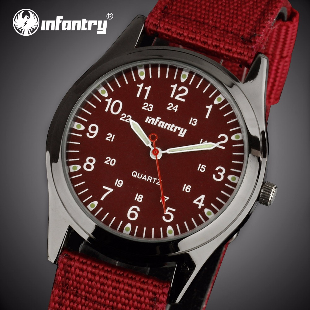 INFANTRY Mens Watches Top Brand Luxury 2018 Army Watch Men Ultra Thin Red Nylon Sport Fashion Watches for Men Relogio Masculino цена