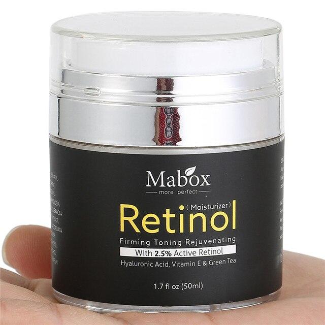 Retinol 2.5% Moisturizer Face Cream Vitamin E Collagen Retin Anti Aging Wrinkles Acne Hyaluronic Acid Green Tea Whitening Cream 2