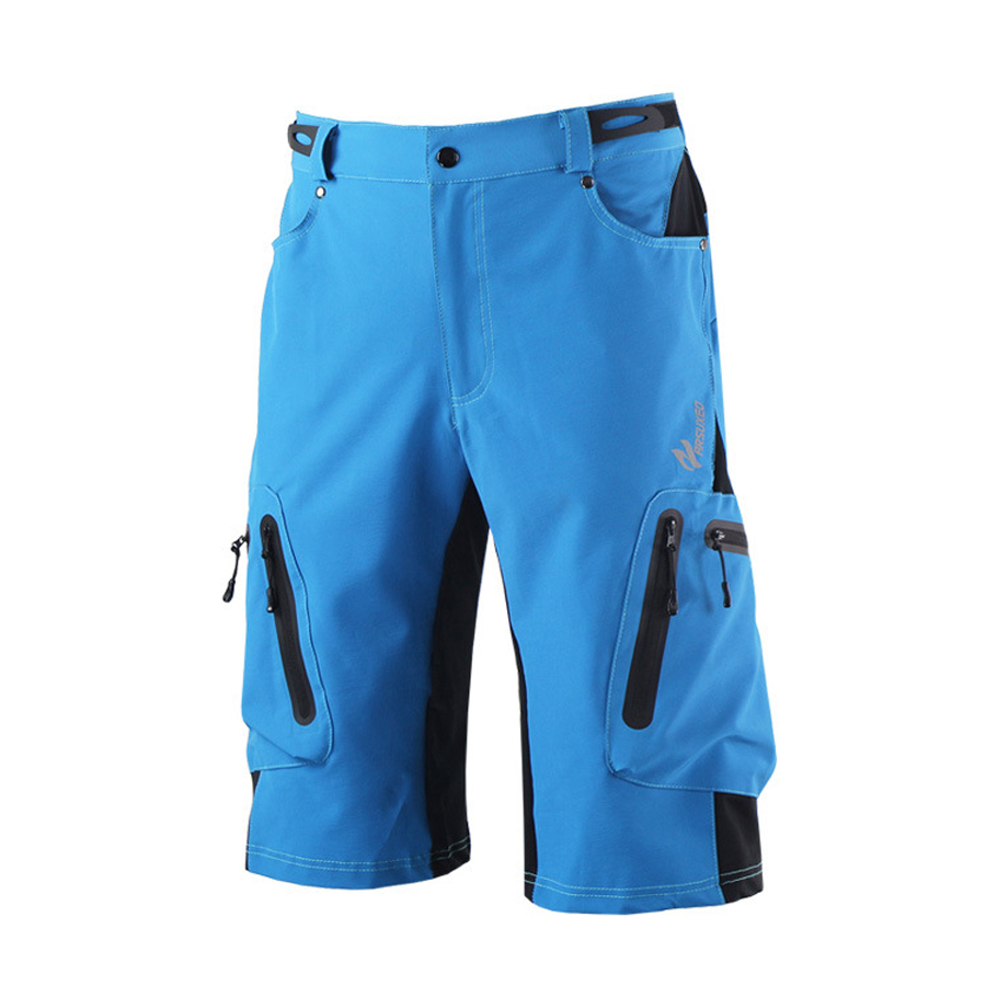 ARSUXEO Mens Brand Outdoor Sports Cycling Clothing Downhill MTB Shorts Pants Mountain Bike Bicycle Shorts Wear Jersey