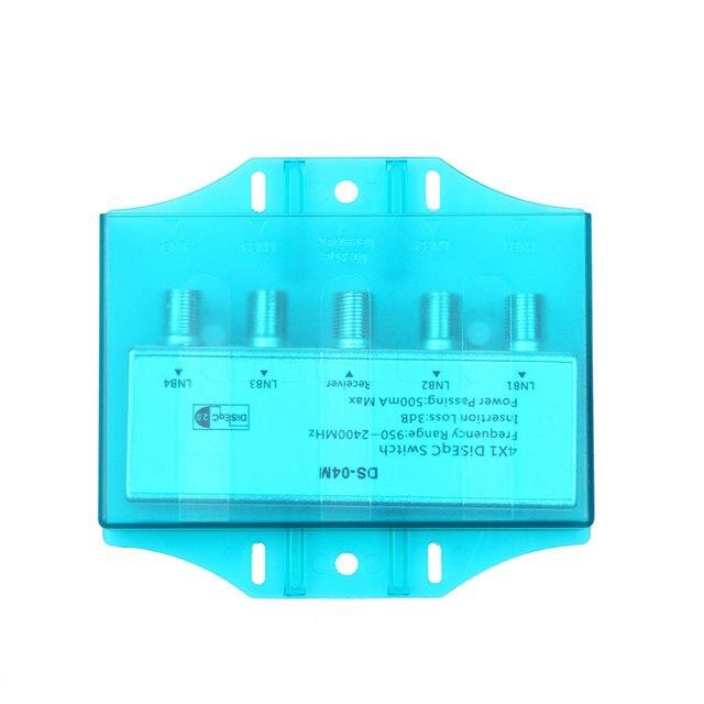 kebidu Pratical Diseqc Switch 4x1 strong diseqc multiswitch satellite antenna flat LNB Switch for TV Receiver Satellite Receiver