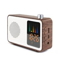 Color led screen electronic alarm clock Retro bluetooth Audio clock Mini radio home desktop digital alarm clock