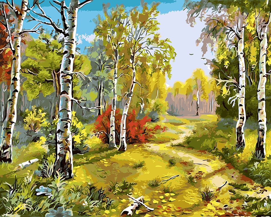 Spring natural scene the paintings no frame home