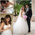 Vintage White Princess Sweetheart Spaghetti Strap Ball Gown Tulle Wedding Dress With Beading