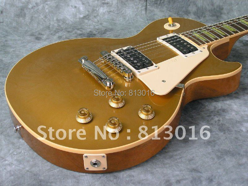 New Arrival 2009 TRADITIONAL  50's GOLDTOP ELECTRIC GUITAR one piece body and neck ,ABR-1 bridge,fret nibs! new arrival lp supreme 90th birthday model electric guitar with frets binding gold goldtop 140401