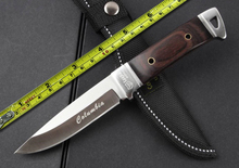 New Stainless Steel Fixed Knife Hunting Knife Outdoor Tool Camping Small fixed blade Knife Color Wood Handle Knives