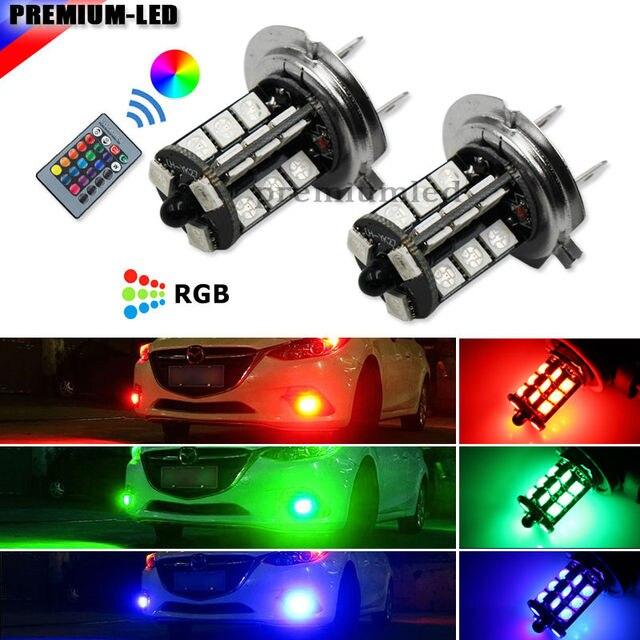 Aliexpress.com : Buy 2pcs Remote Wireless 27 SMD Multi Color RGB ...