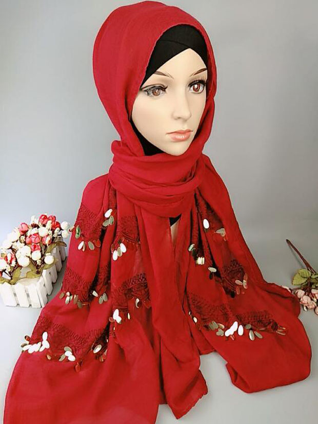 scarf solid shawl soft cotton with bling dangling fancy scarf shawl 180cm X 90cm  fashionable 6 colors 10pcs/lot free ship