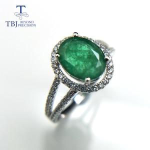 Image 3 - TBJ, 100% Emerald แหวน 925 เงินสเตอร์ลิงของขวัญกล่อง,elegant dianna แหวนมรกตธรรมชาติอัญมณีแหวน