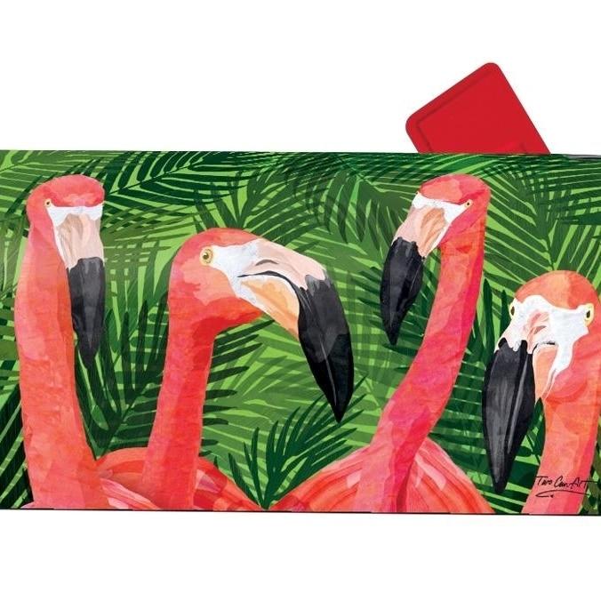 Magnet Works Flamingo Gathering Magnetic Mailbox Wrap Cover #01640 flamingo flamingo босоножки розовые