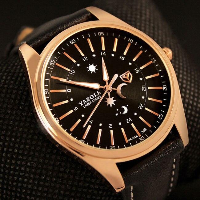 YAZOLE Armbanduhr Armbanduhr Männer 2017 Top-marke Luxus Berühmten Männlichen Uhr Quarzuhr Hodinky Quarz-uhr Relogio Masculino