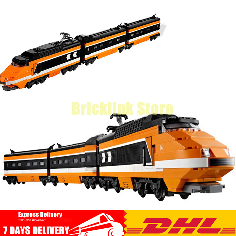 Lepin 21007 Technic Series The Horizon Express Model 10233 Horizon Train Educational Building Blocks Bricks Toys 1351pcs Gift