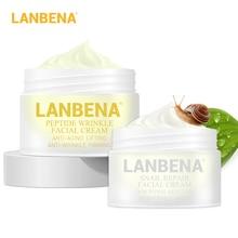 LANBENA пептид против морщин крем для лица+ улиточный крем против старения уход за кожей Отбеливающий подтягивающий уход за акне дневной крем