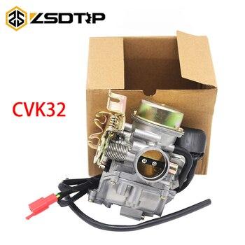 ZSDTRP Motorcycle Aluminum Keihin 32mm Carburetor Carburador For Scooters ATV CVK32 GY6 150CC 200CC 250CC Engine Moto