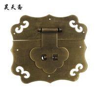 [Haotian vegetarian] Chinese antique copper fittings copper live copper box buckle clasp HTN-006