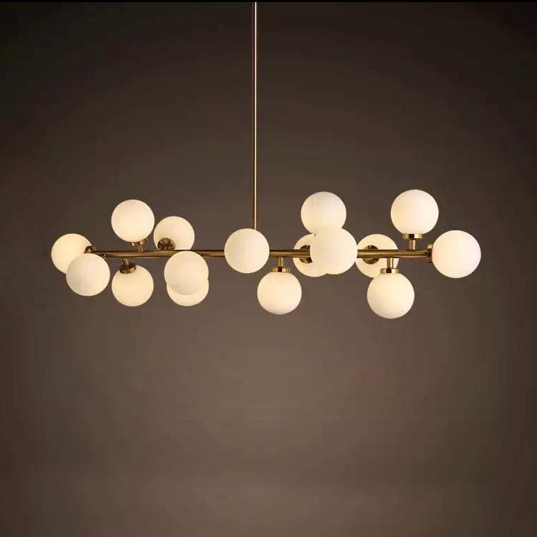 Moderno LED Lampadario Luce Montaggio 16LED luci calde bolla lampadario ristorante A Tre diverse lunghezze di boom di Trasporto Libero di SME