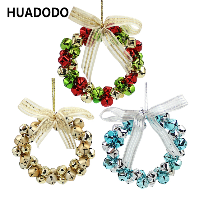 aliexpress com buy huadodo christmas bells wreath pendants