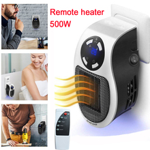 Remote Electric Handy Heater 220V 500W Fast Heating Mini Fan Heater Desktop Wall Stove Radiator Warmer Machine for Home
