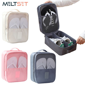 2019 Double Layer Travel Shoes Organizer Bag Waterproof Tote Pouch Bag Underwear/Bra/Socks Storage Bag Luggage Accessories