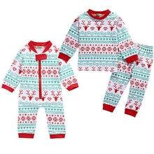 XMAS Newborn Infant Baby Girls Boy Deer Romper Pajamas Set Sleepwear Nightwear