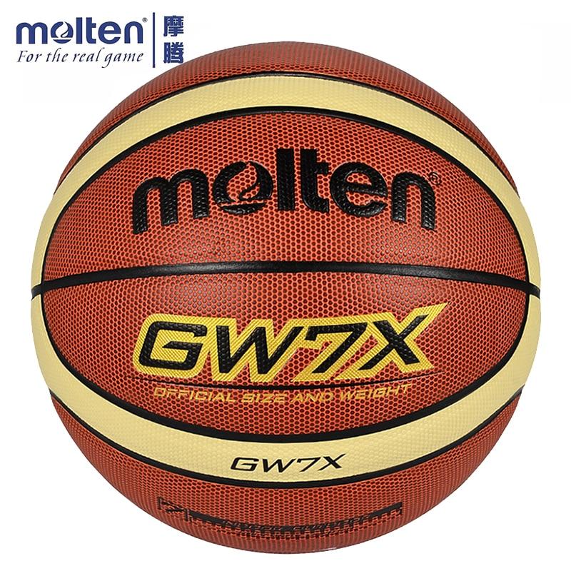 Original Molten Basketball Ball GW7X Brand High Quality Genuine Molten PU Material Official Size7 Basketball