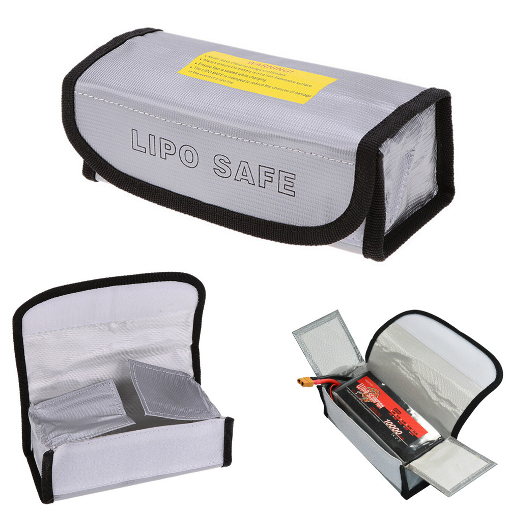 1pcs Fireproof Lipo Battery Safety Bag Lipo Battery Guard Bag Charge Sack Battery Protection Bag for LiPo Battery Waterproof high quality lipo li po battery fireproof safety guard safe bag 215 45 165mm toys wholesale free shipping