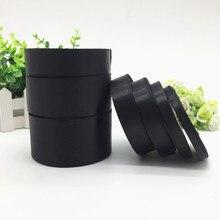 25 ярдов 6 10 15 20 25 38 50 мм черная шелковая атласная лента для украшения свадебной вечеринки пригласительная открытка Подарочная упаковка на Ро...