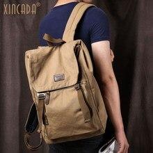 Купить с кэшбэком XINCADA Anti Theft Backpack Vintage Canvas Backpack Men Travel Bags Laptop School Backpacks Rucksack Back Pack Dropshipping
