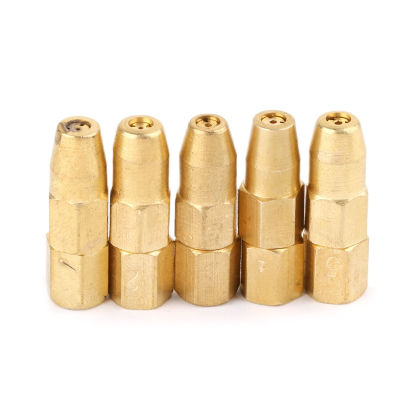 5pcs/set Propane Gas Welding Nozzle Tips H01-2 Holder Accessories 1# 2# 3# 4# 5# 649E