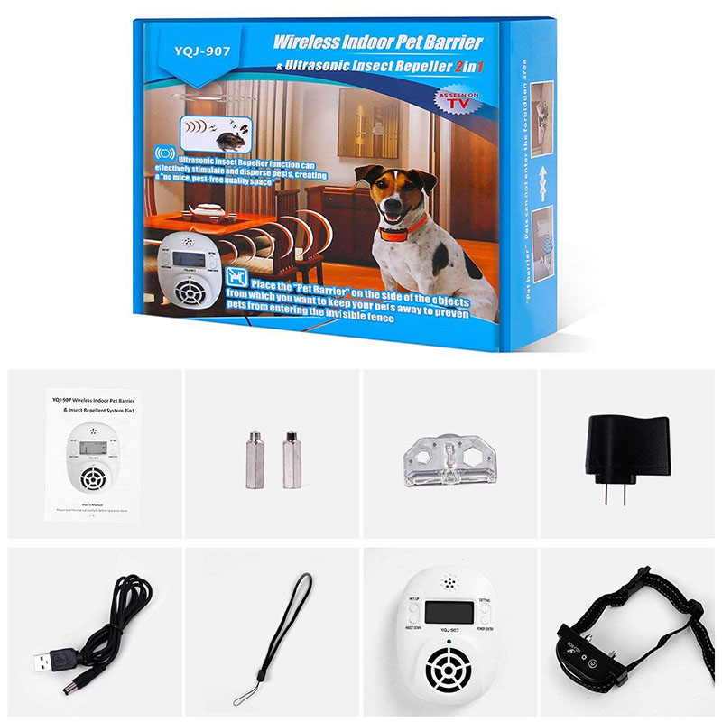FLASH SALE] 2 in 1 Wireless Electronic Pet Dog Fence Indoor